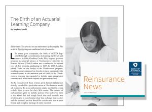 SOA Reinsurance News March 2017