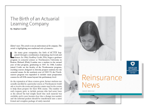 SOA Reinsurance News March 2017